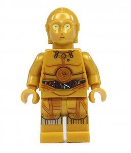 Figurka LEGO C-3PO zepředu