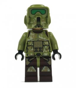 Figurka LEGO Elitní Corps Trooper zepředu