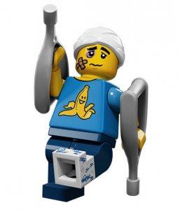 Figurka LEGO Nemotorný chlapík zepředu