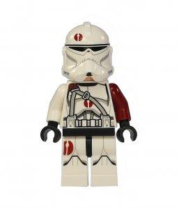 Figurka LEGO Saleucami Clone Trooper zepředu