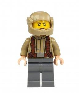 Figurka LEGO Voják odporu, tmavá vesta zepředu