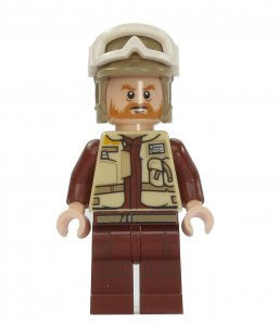 Figurka LEGO Voják rebelů, velitel Rostok zepředu