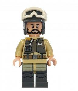 Figurka LEGO Voják rebelů, vojín Kappehl zepředu