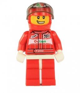 Figurka LEGO Závodník formule 1 zepředu